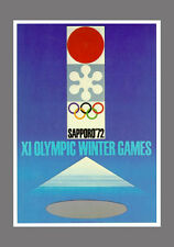 SAPPORO JAPAN 1972 Winter Olympic Games Official Olympic Museum POSTER Reprint