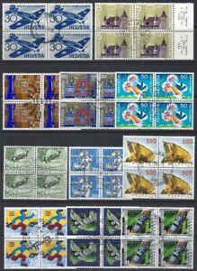 Switzerland Blocks of 4 1944-88 (19) FU-VFU sauber gestempelt (2 pages)