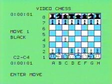 Video Chess (TI-99/4a, 1979) GAME ON 5.25 FLOPPY DISK AND  QUICK REFERENCE GUIDE