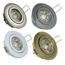 LED 5W GU10 Einbaustrahler Einbauleuchte Set Einbauspot rund Deckenstrahler 230V