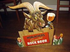 Authentic 1950-60s Horlacher's Bock Beer Display Sign w/ Goat Drinking Beer M73