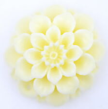 Antique style finely carved ivory coloured bone dahlia flower pendant