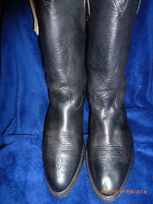 FRY WESTERN MOTORCYCLE BOOTS MENS 10 D NEW GOODYEAR SOLES  MADE IN USA  BLACK