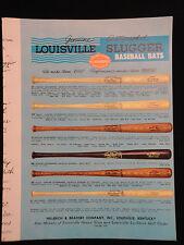 Original 1952 Hillerich & Bradsby Autographed Baseball Bat Dealer Catalog w/PL