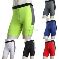 Men's Skin Tights Compression Base Layer Sports Shorts Running Short Pants S-XXL
