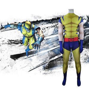 X-Men Wolverine Jumpsuit Logan Howlett Cosplay Costume For Adult Kids Halloween