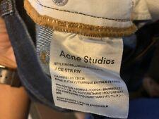 Mens ACNE Blue Wash Denim Jeans Pants with Pockets Size 31 x 34