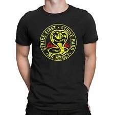 Cobra Kai No Mercy Strike First Strike Hard 80s Karate Kid Movie Men's T Shirt
