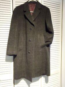 Vintage camel hair coat, wool,  naturally repellant, woven tweed, grey shades