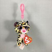 2021 Ty Beanie Boos LIVVIE Leopard Key Clip Plush Stuffed Animal (3 Inch) MWMTs