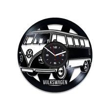 Volkswagen Car Retro Vinyl Record Wall Art Clock Office Decor Exclusive Clock