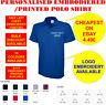 Custom Printed Personalised Embroidered Polo Shirt Your Name Logo Text UC124 Top