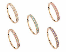 Fashion Jewellery- 18K Rose Gold Plated Bracelet made with Swarovski crystals