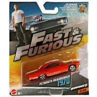 Plymouth Roadrunner 1970 Mattel Fast & Furious 7 1:64 Scale Model Toy Car #2