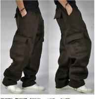 Mens Cargo Baggy Hip Hop Long Pant Trouser Athletic Sweatpants Cotton 11Color Y9