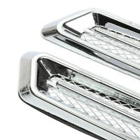 2*Plastic Chrome Car SUV Air Flow Fender Side Vent Decoration Sticker Accessory