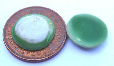 1:12 Scale 2 Green Ceramic Plates 1.2cm Tumdee Dolls House Kitchen Accessory G38