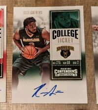 2016-17 Panini Contenders Draft Picks Rico Gathers Auto Baylor Bears