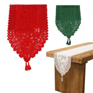 Embroidered Lace Table Runner Long Tablecloth - Christmas Party Home Decoration