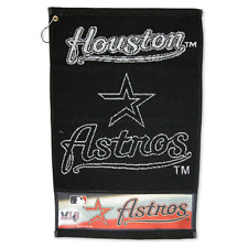 "HOUSTON ASTROS BLACK&WHITE 16""x24"" JACQUARD GOLF TOWEL BRAND NEW WINCRAFT"