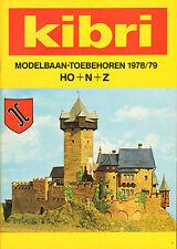 KIBRI CATALOGUS Modelbaan-Toebehoren HO + N + Z (1978/1979)