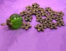 24pc 6mm antique bronze metal bead cap-1160