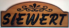 """Custom Carved Wood Sign, or Address Plaque. Cedar round top 7 X 18"""" size"""