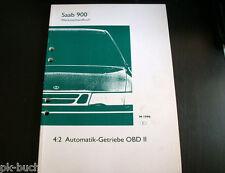 Werkstatthandbuch Saab 900 Automatik-Getriebe OBD II Stand 1996