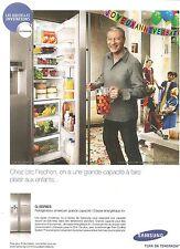 PUBLICITE SAMSUNG G-Séries Réfrigérateur Americain Eric Frechon 2010