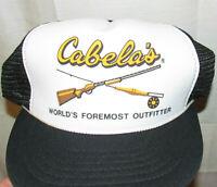 Cabela's Snapback Trucker Hat FISHING / CABELAS / HUNTING - Cap BIG LOGO Front!
