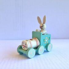 Petit Train avec Lapin, Jouet en Bois, Wooden Toy, figurine -- TBE --