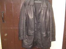 BOSS Hugo Boss Lambskin Black Coat/Jacket 48