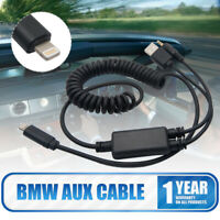 For BMW AUX Interface Audio USB Y Cable Adapter Lead cable for iPhone 7 8 X iPod