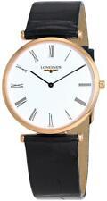 Longines La Grande Classique Rose Gold PVD Black Leather Mens Watch L47091912