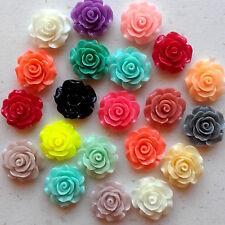20mm Mixed Roses Stunning x 20 Flatback Kawaii Cabochons Decoden Craft Kitsch