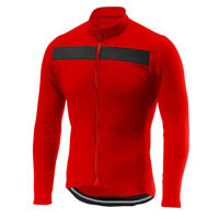 Winter Thermal Cycling Jersey Long Bike Jacket Shirt Top Red Camiseta Ciclismo