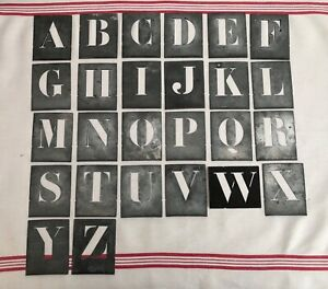 A to Z French Vintage Metal Stencil Letters Alphabet Monogram Printing