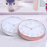 12'' Rose Gold Black Wall Clock Hanging Contemporary Styling Classic !