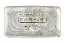 Old Engelhard 6th Series 5 oz .999 Fine Silver Bar S/N 53344 Est. <500 Made