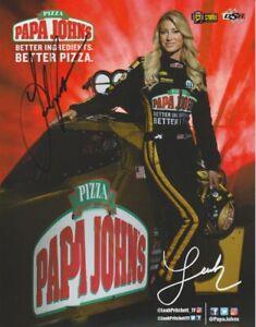 2018 Leah Pritchett signed Papa John's Pizza U.S. Nationals Indy NHRA Hero Card