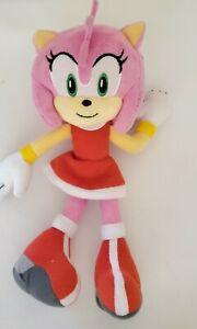 "Amy Rose Plush Tomy SEGA Sonic the Hedgehog EUC 10"""