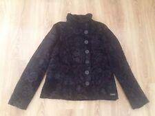 Desigual black floral print ladies Style 27E2000 short coat jacket size 44