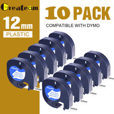 More details for compatible with dymo letratag refill white plastic 91201 label tape 12mm lt-100h