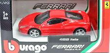 Ferrari 458 Italia Rojo Escala 1:43 de Bburago