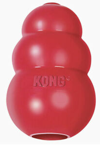 3x Medium Dog (7-16kg) Dog Kongs, Red Used But Been Through Dishwasher!