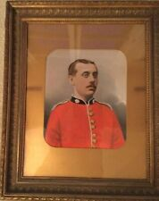 19thc Oil Portrait Of A British Redcoat Officer Military Antique Paintings