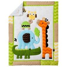 CIRCO JUNGLE CRIB 3 PC SET COMFORTER BABY BLANKET FITTED SHEET NEW GREEN