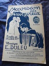 Partition L'accordéon des amoureux de E. Duleu