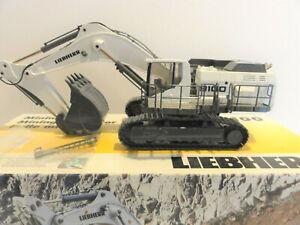 """Conrad 2941.0 Liebherr R 9100 Excavator """"WHITE"""" Clear Glass Version 1:50 """"New"""""""