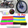 Motorcycle Spoke Skins Cover Wraps Wheel Pipe Guard Dirt Bike Motorbike Color UK
